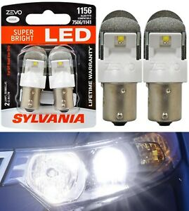 Sylvania ZEVO LED Light 1156 White 6000K Two Bulbs Rear Turn Signal Replace Fit
