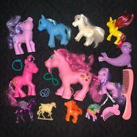 Vintage My Little Pony Lot Unbranded Fakie Ponies Zig Zag Zebra Seal Fakies