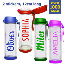 Personalized Water Bottle Kids Name Stickers Labels Gym Drink Lunch Box School