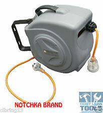 Notchka Wall Mounted Retractable 240v 10amp Electrical Cord Reel 18m