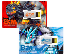 Digimon Vital Bracelet Dim Card Vol.1 Volcanic Beat & Blizzard Fang Japan F/S
