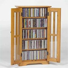 Leslie Dame M-190 Wall Mounted Mission Style Media Storage Cabinet Oak