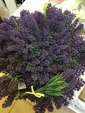 Artificial Plastic Lavender Flowers Bunch X 12 Wholesale Joblot