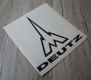 Aufkleber Deutz Ulmer Münster Emblem schwarz Sticker .