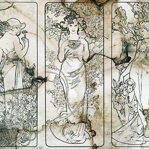 Vliestapete VINTAGE Fototapete VLIES Antiquiert Altes Antike Kunst  Retro Frau
