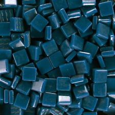 12mm Mosaic Glass Tiles - 4 Ounces About 90 Tiles - Phthalo Blue #1