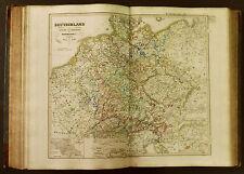 1854c,SPRUNER ATLAS:DEUTSCHLAND.TAV.VII.RUDOLF VON HABSBURG 1275 1493.... .ETNA
