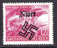 GERMANY B291 NIORT  OVERPRINT OG NH U/M VF BEAUTIFUL GUM