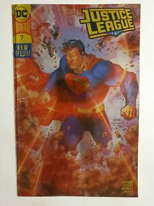 JUSTICE LEAGUE #7 (NM-) GOLD FOIL COVER; DC BOUTIQUE EDITION; SUPERMAN COVER