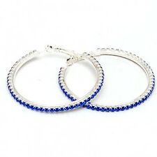 1PAIRS Charm Austrian crystal hoop Round Shiny rhinestone big earring jewelry