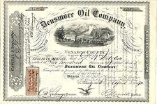 PENNSYLVANIA 1872, Densmore Oil Co Stock Certificate, Venango County