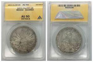 ANACS Mexico 1831 8 Reales Durango Do RM Mint Silver Coin AU50