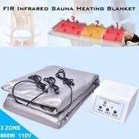 3 Zones Sauna Blanket Weight Loss Far-Infrared(FIR)Salon Detox Slimming Machine