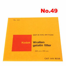 Kodak Wratten Gelatin Filter 12,5 x 12,5 cm No.49 CAT 149 8526