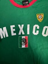 Mexico soccer green &red preowned T-shirt size Xxl world class national team