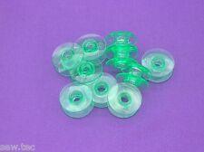 10 Green bobbins fit Viking Husqvarna sewing machines Plastic #4131825-45