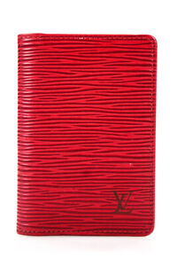 Louis Vuitton LV Monogram Epi Leather Bi-Fold Card Holder Red