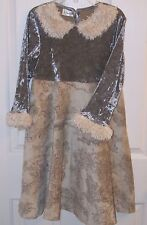POETICA  GIRL'S SIZE 7 or 8 Vintage Style BoHo Dress Velvet and Tapestry