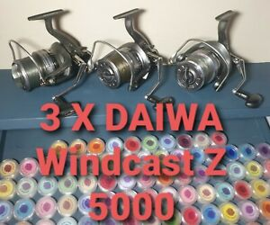 3 X Daiwa windcast Z  5000 reels quick drag,  no box no spare spools