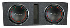 """Two Pioneer TS-W304R 12 inch Subwoofers w/ dual 12"""" Vented Enclosure"""