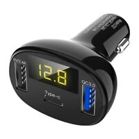 Type C+Qc3.0 Car Charger Quick Charger 3.0 Car Dual Usb And Type C Radio Mo F8M4