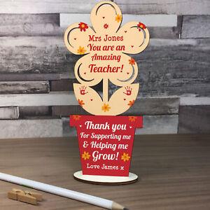 Personalised Teacher Gifts Thank You School Nursery Pre School Leaving Present