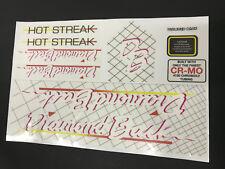 Diamondback Hot Streak 1985  Decals Sticker Set Suit Your Old School BMX