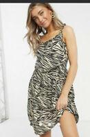 Wednesdays Girl Dress Cami Ruffle Zebra Print Size XS 8, S 10 & M 12 New EL109