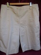 White Stag~Bermuda Walking Shorts Short~Knee Pants~Size 16~StoneBeige Cotton~EXC