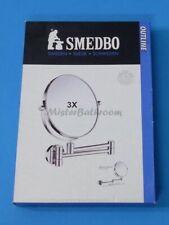Smedbo Outline Badspiegel FK430 chrom 3-fach Kosmetikspiegel Rasierspiegel