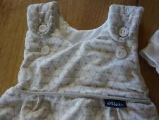 Babyschlafsack 2-teilig gr. 50,56 in weiß-grau von Alvi wie neu
