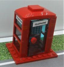 LEGO BRITISH LONDON TELEPHONE BOOTH city town street. minifigure (red) NEW