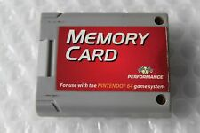 Nintendo 64 N64 Memory Card Controller Pack Performance SAVE YOUR GAMES - TESTED