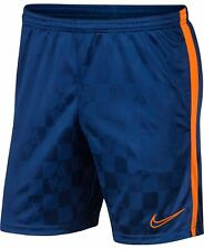 Nike Mens Shorts Blue Orange Size 2XL Stretch Dri-Fit Academy Pull-On $35 040
