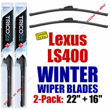 WINTER Wiper Blades 2pk Super-Premium fit 1990-2000 Lexus LS400 35220/160