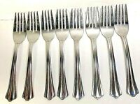 Oneida Madie 8 Stainless Salad Desert Forks USA  Pattern Discontinued preowned
