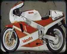 Bimota Yb4 88 4 A4 Metal Sign Motorbike Vintage Aged