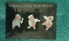 vintage 1930s disney three little pigs stationary seals