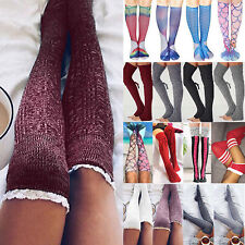 Womens Over The Knee Long Socks Knit Warm Thigh High Stocking Winter Leg Warmers