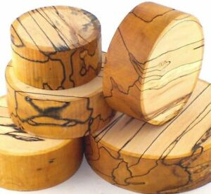 One Spalted Beech woodturning or wood carving bowl blank. 50mm & 75mm thick.