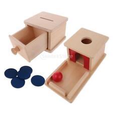 Kids Montessori Materials Wooden Toy - Ball Matching Box & Coins Piggy Bank