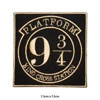 Harry Potter Platform 9 3/4 Movie Comic Embroidered Patch Iron on Sew On Badge