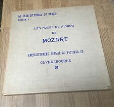 Box Noces de Figaro Mozart Glyndebourne Vittorio Gui Club National Du Disque*
