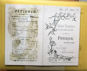 Original Programme From The First Production of 'Patience'  (1881)