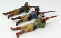 Vintage Elastolin Composite Cowboys 70mm. Pre 1940 Toy Soldiers. Made in Germany