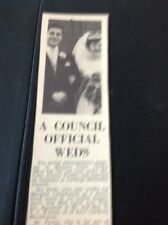 69-5 Ephemera 1963 Picture Wedding Colin Perkin Margate Carol Watkin Birchington
