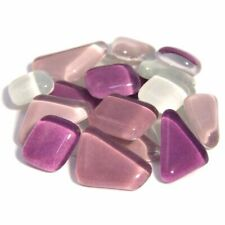 Soft Glas Polygonal lila Mix 200g Mosaiksteine S69-99e