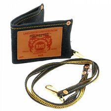 RMC JEANS Denim Double Bill Fold Wallet with Key Chain
