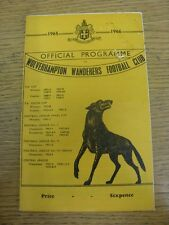 25/09/1965 Wolverhampton Wanderers v Bury  (marked on front). Thanks for viewing