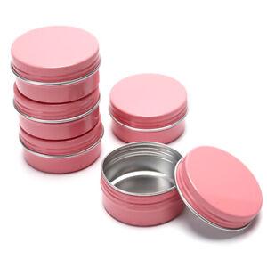 5Pcs Portable 50ML Aluminium Cosmetic Jar Face Cream Pot Eye Cream Empty Bottle